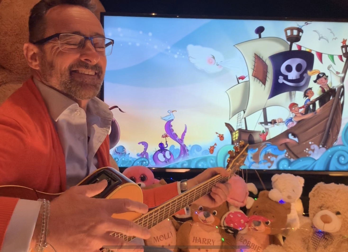 Adams Pirate Treasure Live Show. Book Reading and Sing Along with Benji Bennett